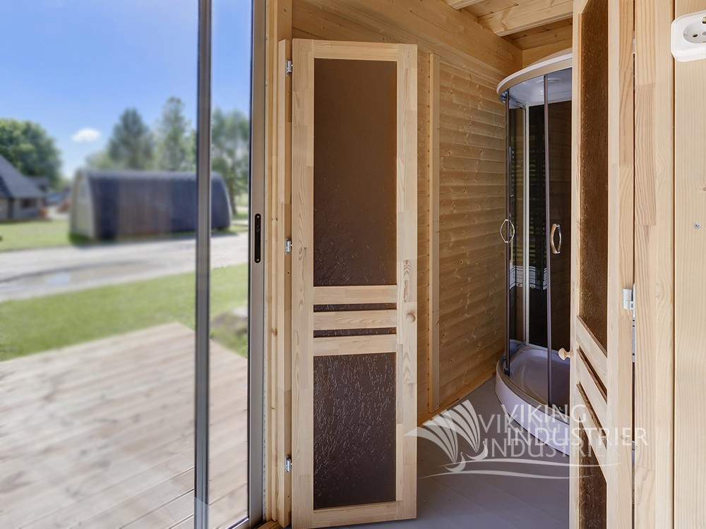Sauna Cube 3 x 4 With Lounge room | VIKING INDUSTRIER