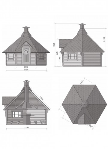 Grill Cabin 9.2 m2 DRAWINGS
