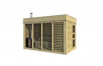 Sauna Cube 2x4  With Changing Room