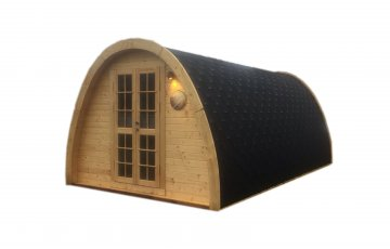 Insulated Camping pod 3.2 x 5.8 for glamping without windows in front