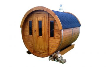 Sauna Barrel Ø1.9 x 2 m