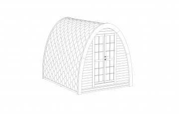 Camping Pod from Thermowood 2.4 x 2.4
